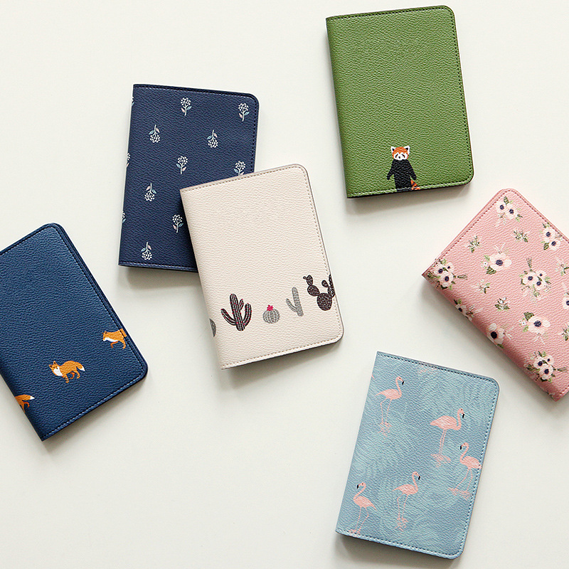 Korea Style Fashion Cartoon <font><b>Passport</b></font> Cover Card Holder Travel Organization <font><b>Passport</b></font> Holder Case For Travel Pasport Small Gift image