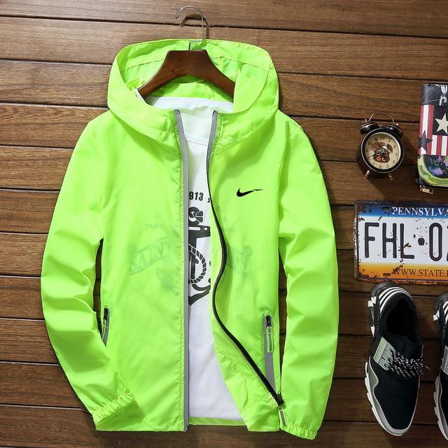 2019 Sport Outdoor Cycling Thin green Jackets Man Loose Windproof Waterproof Outwear Tops chaqueta vaquero punk coat streetwear