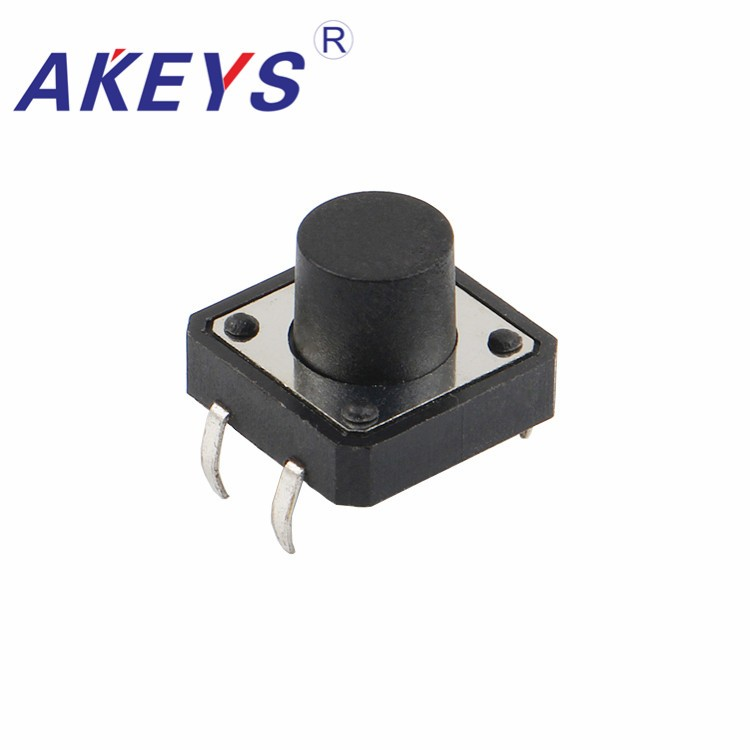 50pcs Ts-g001 12*12 Black Momentary Tact Switch Dip 4 Pin Copper Pin Smart Switch Lights & Lighting