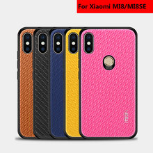 PC+TPU For Xiaomi mi8 Case Luxury Carbon Fiber Ultra Thin Silicone for se mi 8 Explorer Phone Cover capa