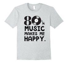 40fa6b65ff7a6 2018 New Summer Men Hot Sale Fashion 80 s Music Makes Me Happy 80S  Nostalgia T-Shirt 3D T Shirt Men Plus Size Cotton Tops Tee