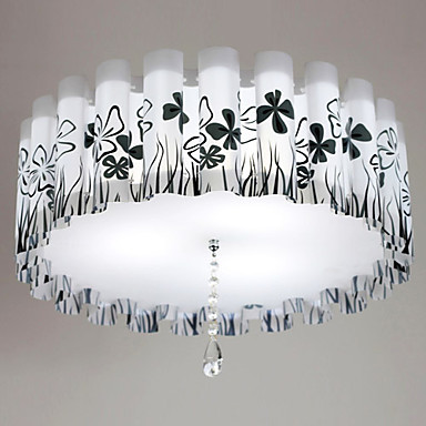 Free Shipping Flush Mount, 3 Light, E27 11W Country Chic Metal PVC Painting Size::52*52*18CM