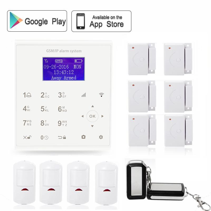 433mhz Wireless smart home GPRS wifi alarm system gsm sms autodail house anti-burglar security kit Android/IOS APP control цена и фото