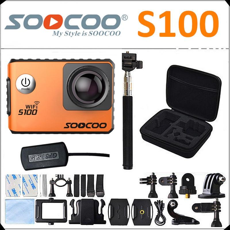 bilder für Soocoo s100 4 karat wifi action kamera gyro stabilisator 30 mt wasserdichte tauchen außen mini sport kamera dv mit optional gps verlängerung
