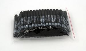 Перманентный маркер QSHOIC, 100 шт./лот, черная быстросохнущая ручка с закругленным носком, черные перманентные спиртовые маркеры, ручка для тка...