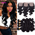 Peerless Peruvian Body Wave With Closure Peruvian Virgin Hair With Closure 4 Bundles With Closure Silk Base Closure With Bundles