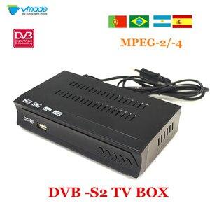 Image 1 - Vmade Completamente HD Digital DVB S2 Ricevitore Satellitare DVB S2 TV BOX MPEG 2/ 4 H.264 supporto HDMI Set Top Box Per La RUSSIA/Europa