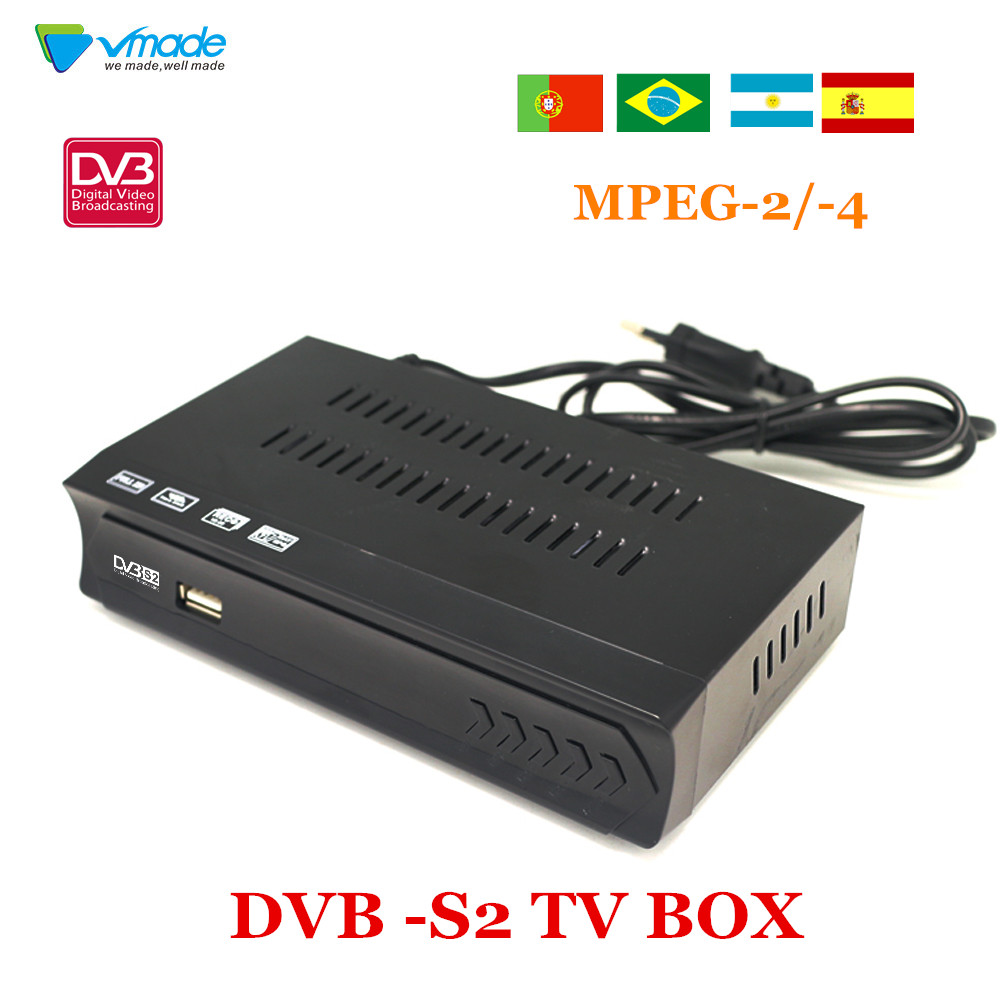 Vmade Fully HD Digital DVB S2 Satellite Receiver DVB S2 TV BOX MPEG 2/ 4 H.264 Support CCCAM HDMI Set Top Box For RUSSIA /Europe-in Satellite TV Receiver from Consumer Electronics