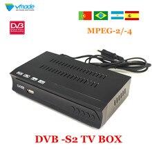 Vmade 완전 HD 디지털 DVB S2 위성 수신기 DVB S2 TV 박스 MPEG 2/ 4 H.264 지원 HDMI 셋톱 박스 러시아/유럽