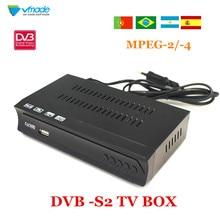 Vmade كامل HD الرقمية DVB S2 استقبال الأقمار الصناعية DVB S2 صندوق التلفزيون MPEG 2/ 4 H.264 دعم HDMI مجموعة صندوق فوقي لروسيا/أوروبا