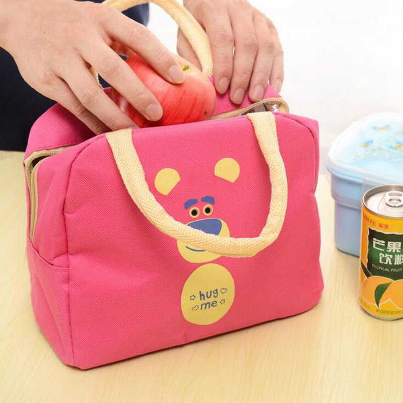 Food Lunch Bag For Kids Women Men Thermal Cooler Picnic Food Bags For Lady Children Thicken Cooler Insulation Thermo Bag