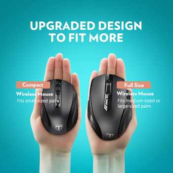 VicTsing mm057 Wireless Mouse Upgraded 2400DPI Adjustable Full Size Ergonomic Design Mouse For Laptop/Notebook/PC/Computer