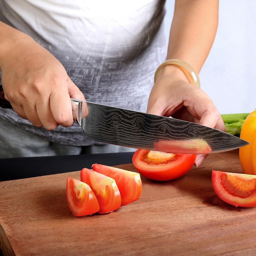 Professional 8 düym aşbazın bıçağı yüksək keyfiyyətli - Mətbəx, yemək otağı və barı - Fotoqrafiya 6