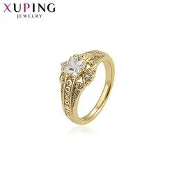 Xuping New Arrival ślub sylwester prezent syntetyczna sześcienna cyrkonia pierścionki dla kobiet biżuteria w stylu Vintage 15879