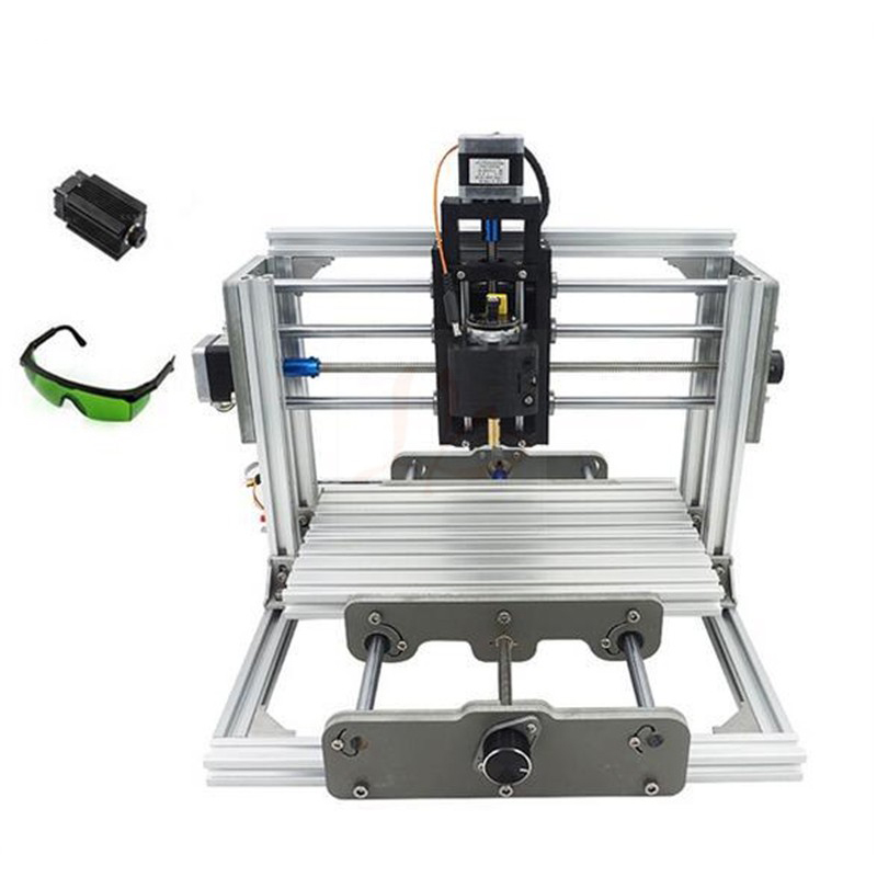 DIY CNC Router 2417 + 2500mw Laser Engraving Machine For Wood, Plastic, Acrylic, PCB CCL, Free Duty To Russia