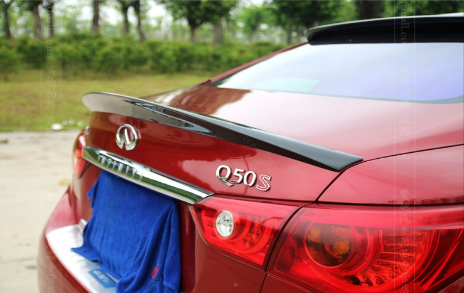 Carbon Fiber Spoiler For Infiniti Q50 201420152016 High Quality Rear Wing Spoilers Trunk Lid