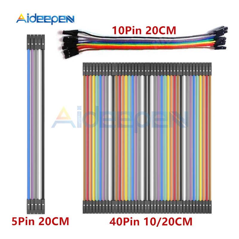 5 Pin 10 40 Pin 10CM 20CM macho a hembra Dupont Cable de línea de placa de alambre de puente conector para Arduino