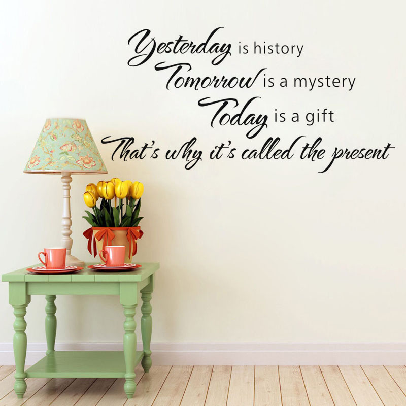 Yesterday Is History Vinyl Wall Decal Quotes Home Decor