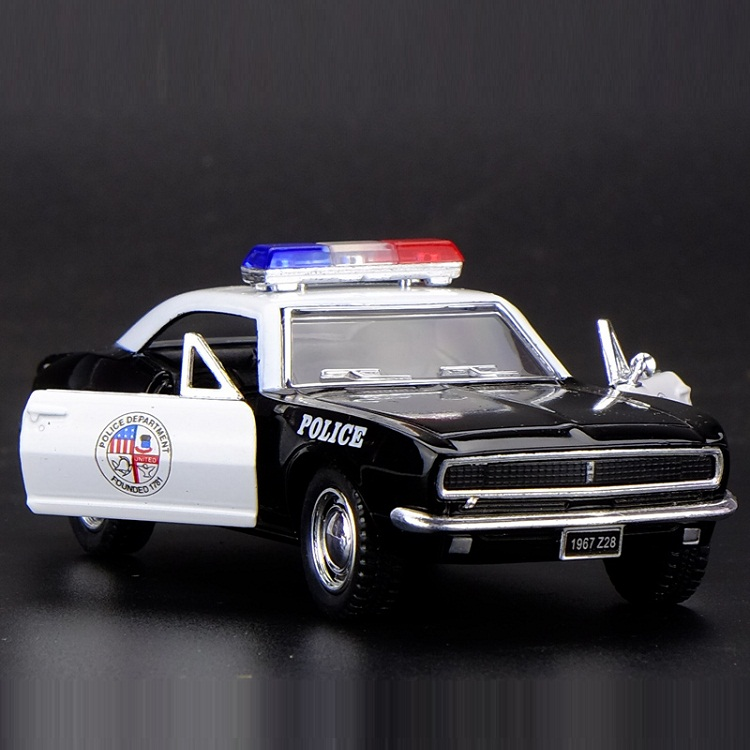 High Simulation Exquisite Diecasts & Toy Vehicles: KiNSMART Car Styling 1967 Chevrolet Camaro Z28 Police 1:38 Alloy Car Model