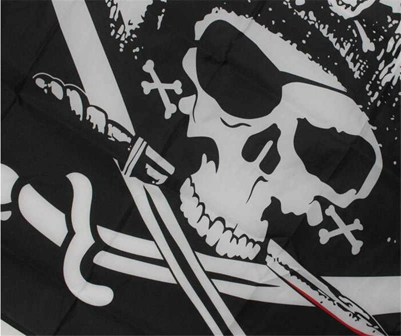 Large Skull /& Cross Crossbones Sabres Swords Jolly Roger Pirate Flags 3x5FT ГџГџ