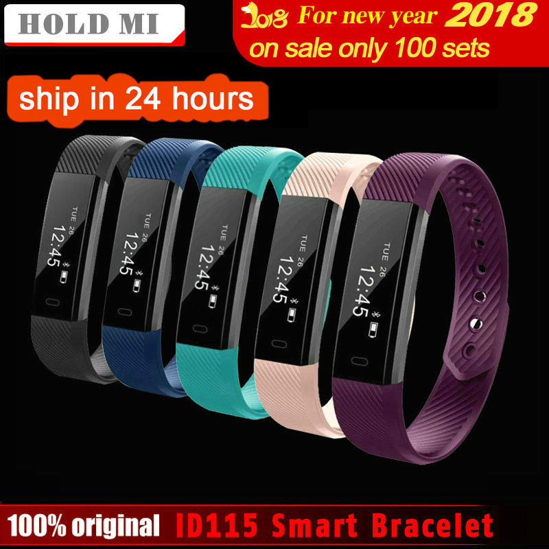 HoldMi ID115 Pulseira Inteligente Monitor de Rastreador De Fitness Passo Contador Atividade Banda Despertador Vibração Pulseira IOS Android phone