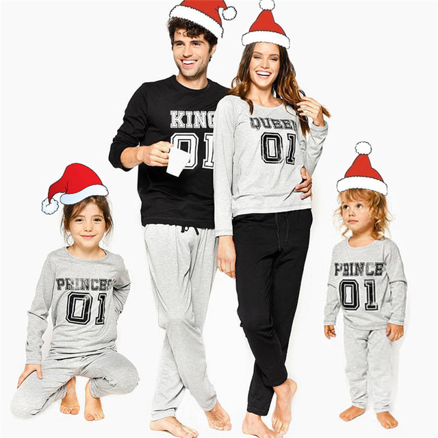 Fall Family Matching Outfits Christmas Costumes Dad Mom Kids Xmas Pajamas Set Long Sleeve T