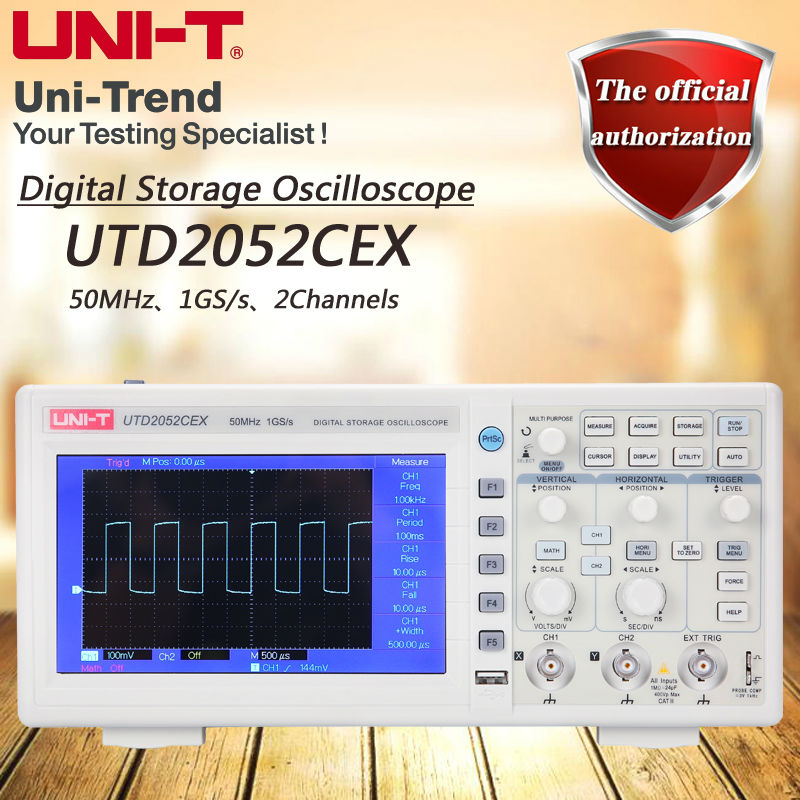UNI-T UTD2052CEX 50MHz digital storage oscilloscope / 2 channel / 1GS / s sampling rate осциллограф uni t utd2052cex
