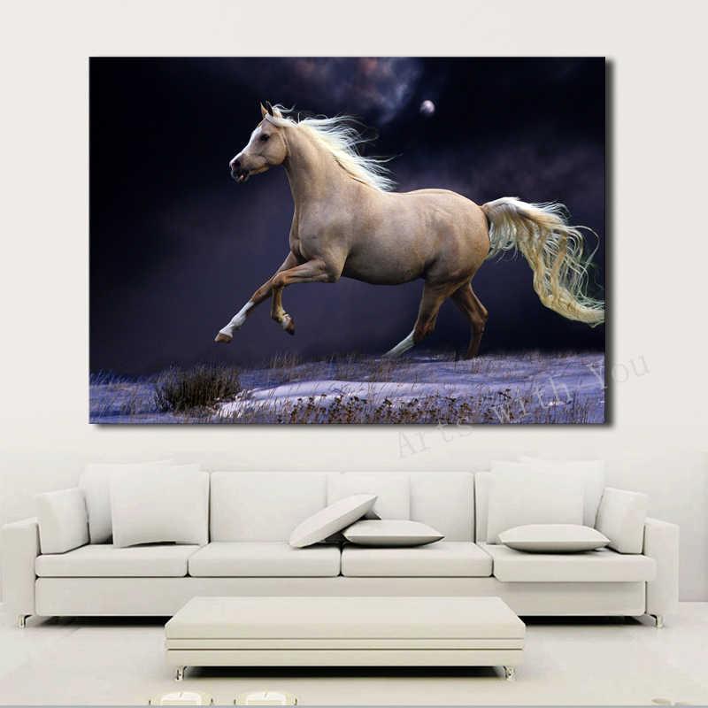 1 لوحة الصورة تشغيل الحصان قماش جدار ديكور الفن hd اللوحات على قماش ل غرفة المعيشة ديكور المنزل جدار الفن صور