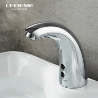 LEDEME хром отполированный автоматический смеситель инфракрасный смеситель для ванной комнаты Смеситель для воды сенсор сенсорный смеситель