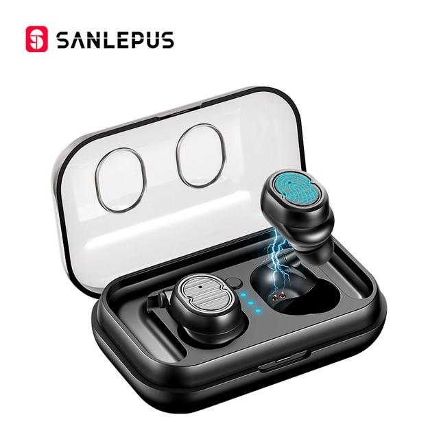 SANLEPUS TWS 5,0 беспроводные наушники Bluetooth наушники спортивные наушники стерео гарнитура Громкая связь аурикуларес для телефонов Xiaomi