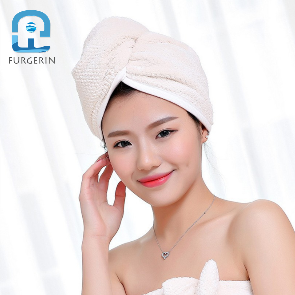 FURGERIN Hair Cap Dryer shower cap towels Absorbent Caps for Women Soft  Bath Hat hair bonnet for sleeping Hot Tub Accessories -in Shower Caps from  Home ... 1aaed760314