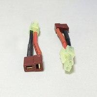 100 шт. мини Tamiya штекер T штекер Женский провода адаптер Tamiya соединительный кабель 50 мм для RC Lipo батарея зарядки адаптер Новый
