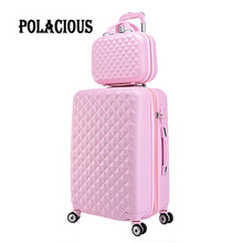 20″+12″Scorching gross sales Diamond strains Trolley suitcase set/travell case baggage/Pull Rod trunk rolling spinner wheels/ ABS boarding bag
