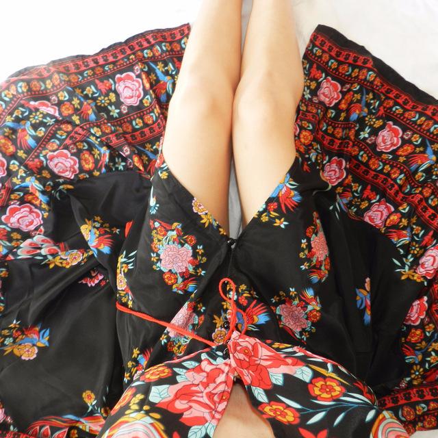 Summer Boho Floral Tassel Dress
