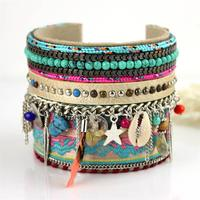 10PCS A Set Handmade Macrame Knotted Colour Candy Wide Woven Friendship Bracelet