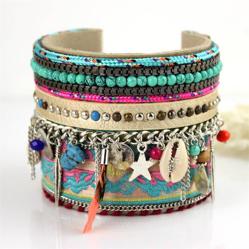 Handmade Macrame Knotted Colour Candy Wide Woven Friendship Bracelet BANGLE