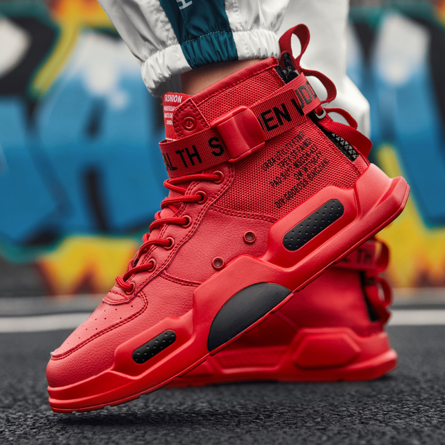 YRRFUOT erkekler moda rahat ayakkabılar Sneakers bahar yüksek en Trend erkek ayakkabıları marka rahat nefes su geçirmez yürüyüş ayakkabısı