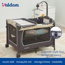 سرير للرضع حديثي الولادة شحن مجاني! الاتحاد الأوروبي متعددة الوظائف للطي سرير بيبي الموضة المحمولة لعبة Bb الطفل مهد إرسال اللعب هدايا مجانية