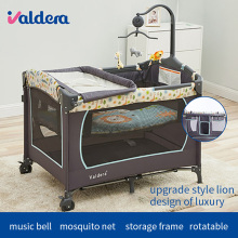 цена на Valdera multifunctional folding baby bed fashion portable game bed bb baby child bed cradle bed