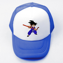 Cartoon Dragon Ball Goku Baseball Cap Men Women Girl Boy Japanese Anime Snapback Hat Hip Hop Cap Trucker Caps for Birthday Gift