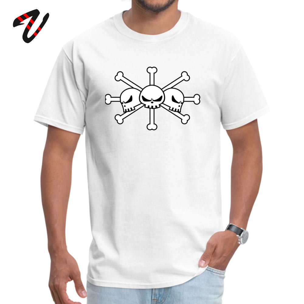 Geek Short Sleeve Tees Labor Day Round Neck Pure Cotton Men Top T-shirts BlackBeard Jolly Roger Geek Tops T Shirt Cheap BlackBeard Jolly Roger 2920 white