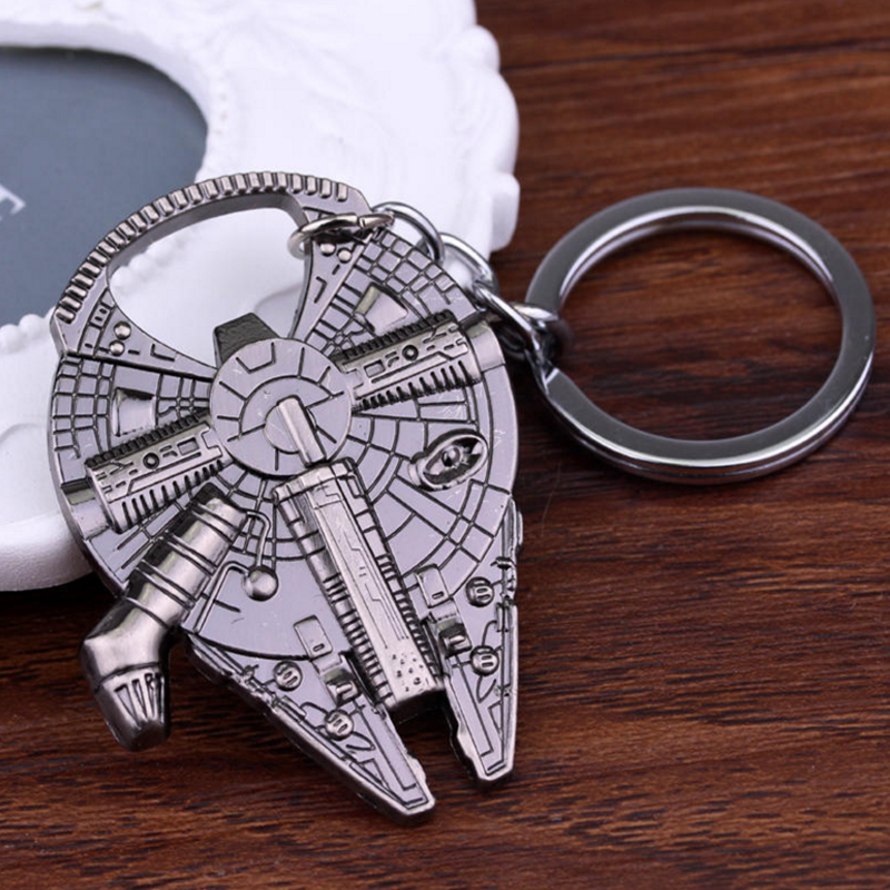 Star Wars Spaceship Keychain Bottle Opener Kitchen Gadgets Catering Bar Cooking Tools Home Hanging Small Gift Activities