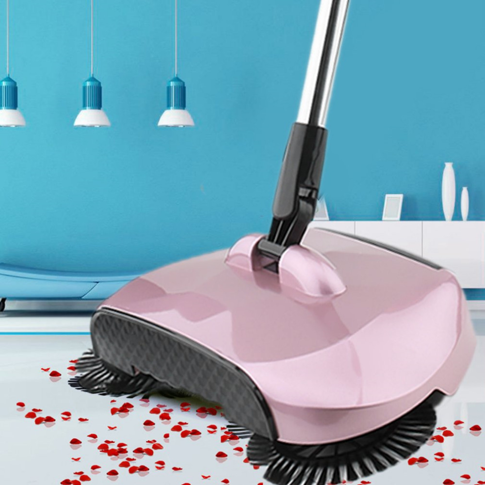 Household Magic Stainless Steel Sweeping Machine Hand Push Type Magic Broom Sweeper Floor Dustpan Vacuum Floor