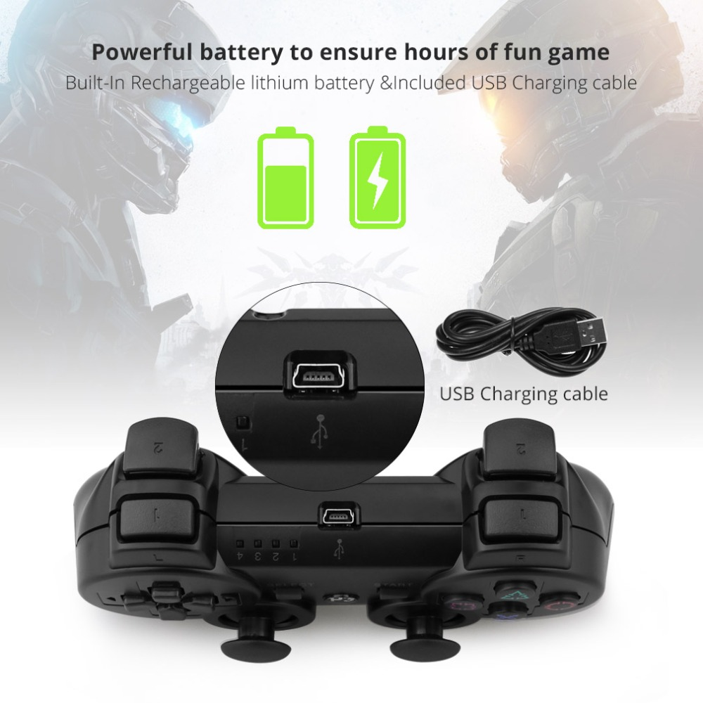 Image 4 - Gamepad Wireless Bluetooth Joystick For PS3 Controller Wireless Console For Sony Playstation 3 Game Pad Switch Games Accessories-in Gamepads from Consumer Electronics