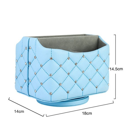 Fashion nobility leather mobile phone remote control storage box coffee table shelf finishing box in Storage Boxes Bins from Home Garden