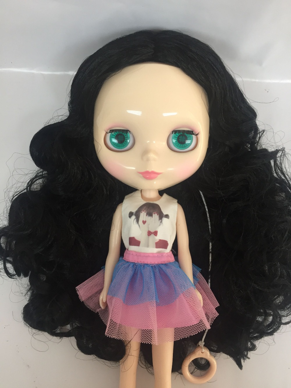 Free shipping Nude blyth Doll ,blond hair transparent skin