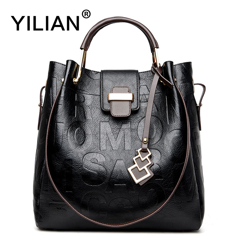 YILIAN 2-piece Bags For Women 2018 New Ladies'  Leather Handbag Messenger Bags Big Capacity Single-shoulder Bag 6688