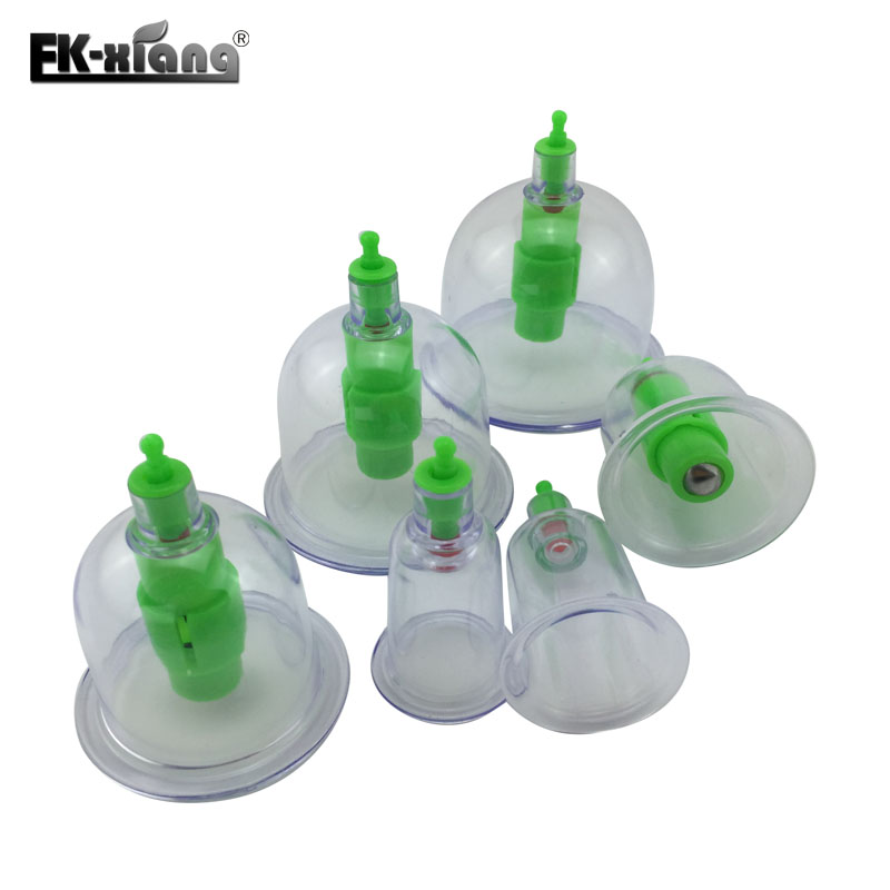 6 Cups Chinese Medical Vacuum Body Massager.Magnetic Acupunture Vacuum Cupping.Set Portable Massage.Therapy Tens Hijama Health