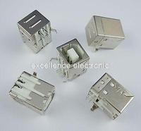 50Pcs USB Female Socket Right Angle PCB Connector DB90