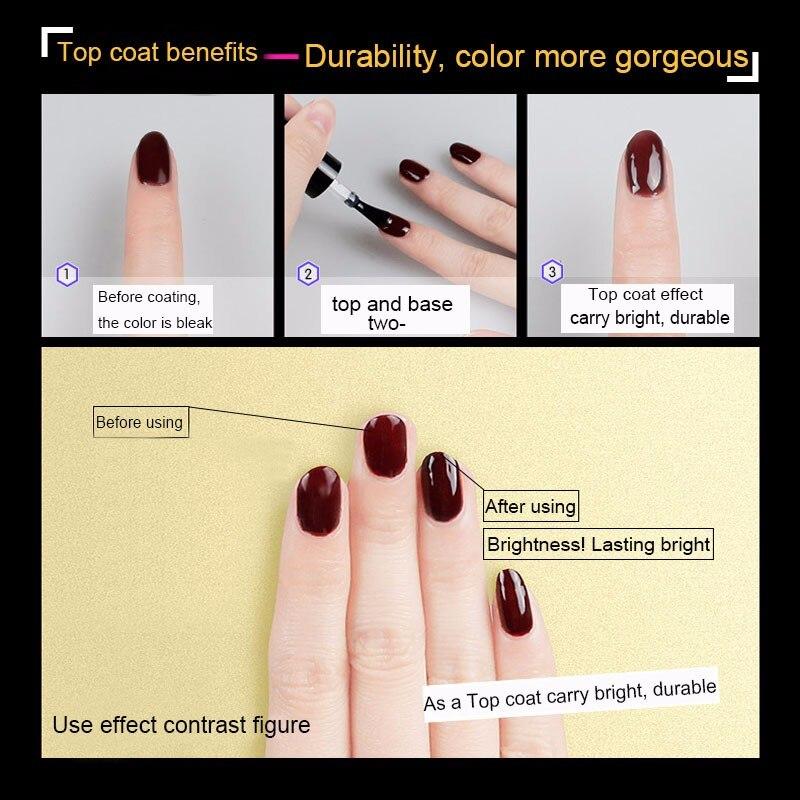 Zation Lacquer Manicure Nail Enamel Top Base Gel Top Base Coat Nail ...